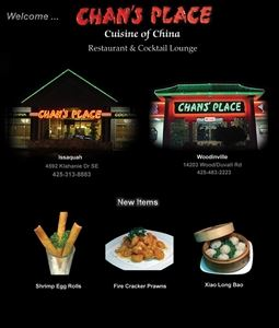 Chan's Place Cuisines Of China