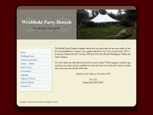 Wrobleski Party Rentals.