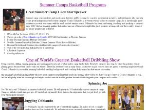 Triple T Basketball Skills & Entertainment