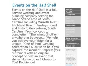 Events on the Half Shell