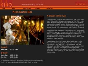 Kiko Sushi Bar Catering
