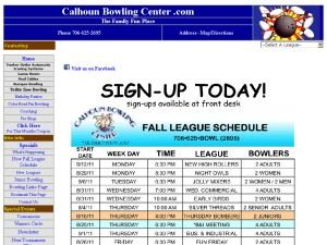 Calhoun Bowling Center