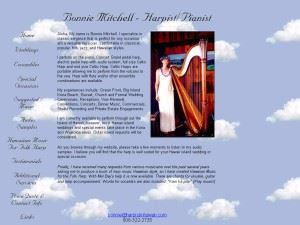 Bonnie Mitchell Harpist and Pianist