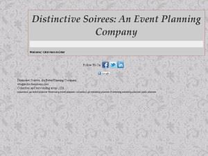 Distinctive Soirees: An Event Planning Co