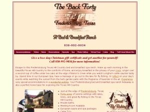 The Back Forty of Fredericksburg Ranch & Bed and Breakfast