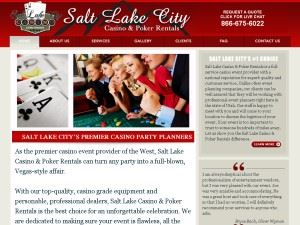 Salt Lake City Casino & Poker Rentals
