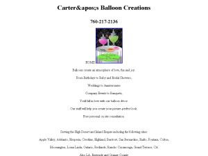 Carter's Balloon & Candy Creations