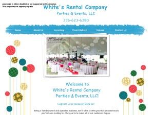 White's Rental Company Parties & Events, LLC