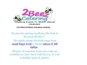 2 Beez Catering