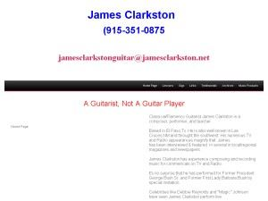 Classical/Flamenco Guitarist James Clarkston