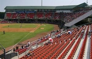 Five County Stadium - Carolina Mudcats