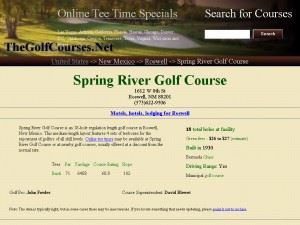 Spring River Golf Course