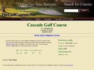 Cascade Golf Course