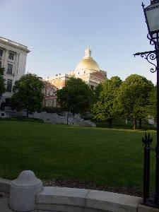 The beautiful gold-dome of the State House