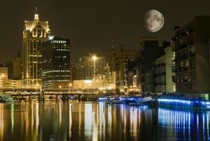The Moon Over Milwaukee