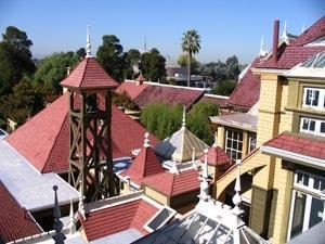 Aerial view of the Winchester House
