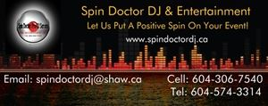 Spin Doctor DJ & Entertainment Service - Chilliwack