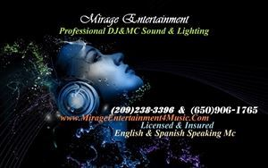 Mirage Entertainment DJ& Mc Service
