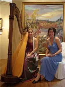 Véronique Couturier, harpist and musicians