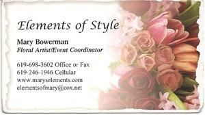 Elements of Style Florist