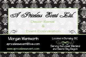 A Priceless Event Ltd - Whistler - Burnaby